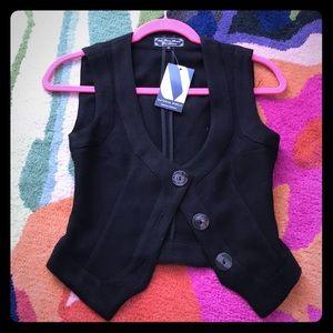 WGACA cropped black vest